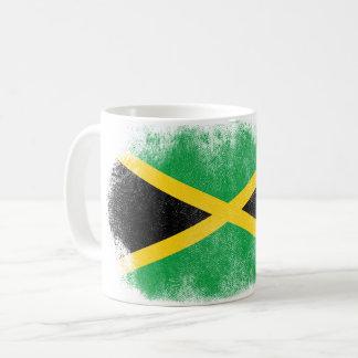 Jamaica Flag Souvenir - Distressed Jamaican Design Coffee Mug