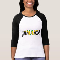 Jamaica flag text T-Shirt
