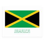 Jamaica Flag with Name Postcard