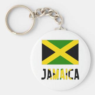 Jamaica Flag & Word Keychain