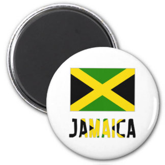 Jamaica Flag & Word Magnet