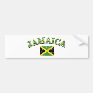 Jamaica football design bumper sticker