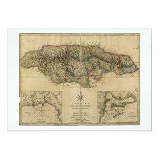 Jamaica from the latest Surveys Map (1775) Card