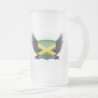 JAMAICA FROSTED GLASS BEER MUG
