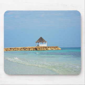 Jamaica - Gazebo at Silver Sands Beach Mouse Pad