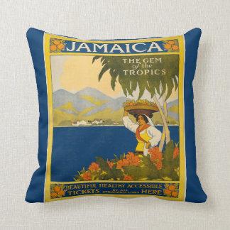 Jamaica - Gem of the Tropics (vintage poster) Throw Pillow