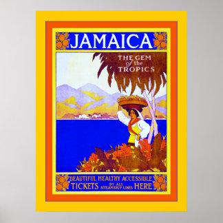 Jamaica ~ Gem of the Tropics ~ Vintage Travel Posters