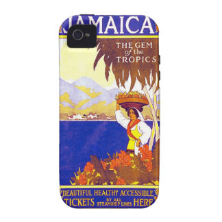 Jamaica Gem of the Tropics Vintage Travel Poster iPhone 4 Cover