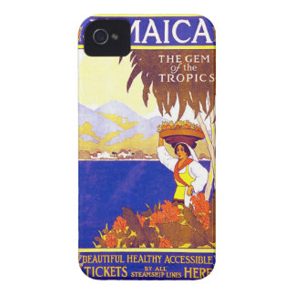 Jamaica Gem of the Tropics Vintage Travel Poster Case-Mate iPhone 4 Cases