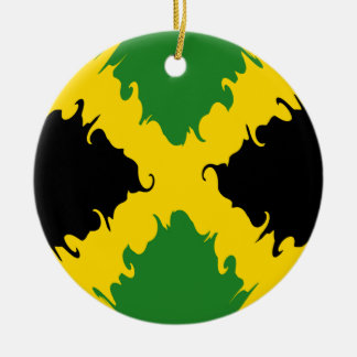 Jamaica Gnarly Flag Ceramic Ornament