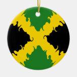 Jamaica Gnarly Flag Christmas Tree Ornament