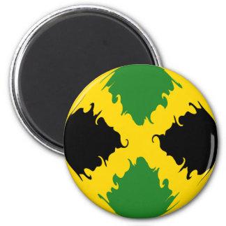 Jamaica Gnarly Flag Magnet
