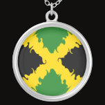 Jamaica Gnarly Flag Silver Plated Necklace