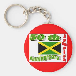 Jamaica independence basic round button keychain
