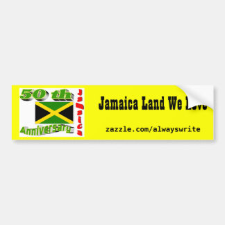 Jamaica independence bumper sticker
