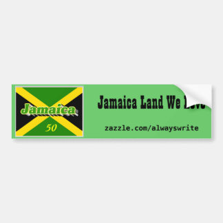 Jamaica independence day bumperstickers bumper sticker