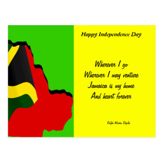 Jamaica independence day postcards-wherever i go postcard