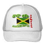Jamaica independence mesh hats