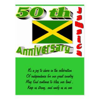 Jamaica independence postcard