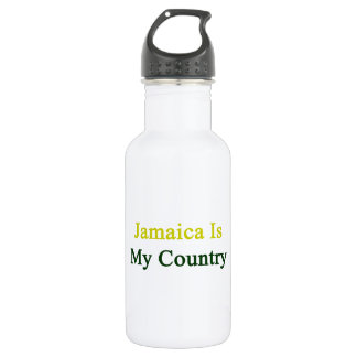 Jamaica Is My Country 18oz Water Bottle