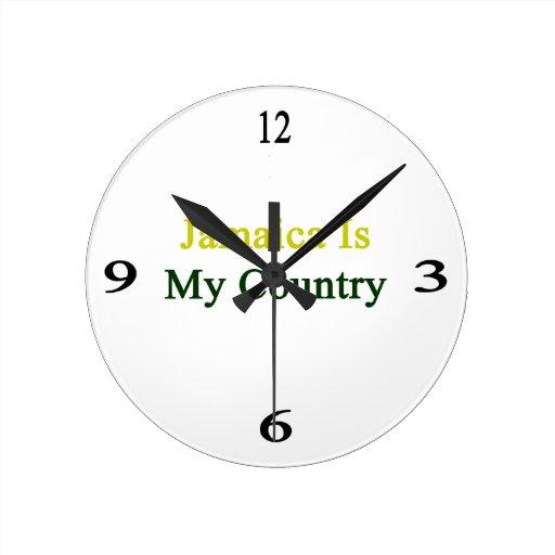 Jamaica Is My Country Round Wallclocks