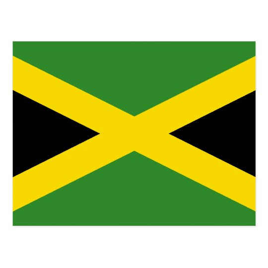 Jamaica, Jamaica flag Postcard