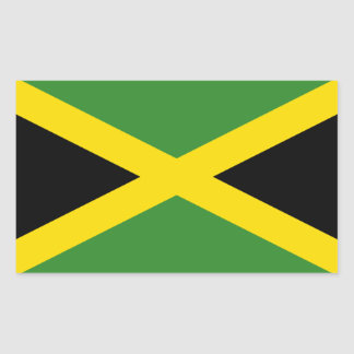 Jamaica/Jamaican Flag Rectangular Sticker
