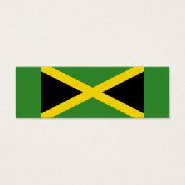 Jamaica – Jamaican Flag Small Bookmarks Mini Business Card