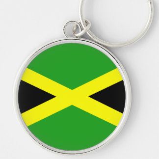 Jamaica Key Ring Silver-Colored Round Keychain
