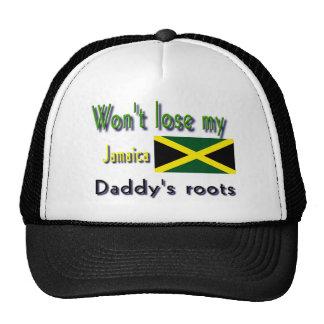 Jamaica las raíces de mi papá gorros bordados