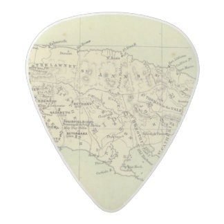Jamaica Lithographed Map Acetal Guitar Pick