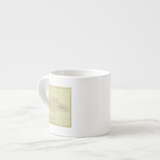 Jamaica Lithographed Map Espresso Cup