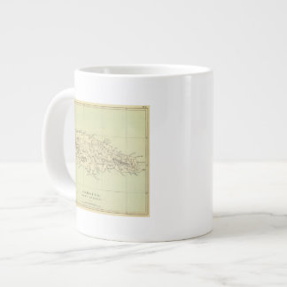 Jamaica Lithographed Map Large Coffee Mug