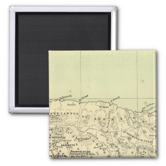 Jamaica Lithographed Map Magnet