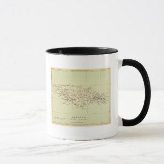 Jamaica Lithographed Map Mug