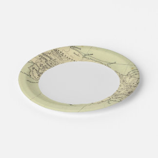 Jamaica Lithographed Map Paper Plate