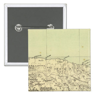 Jamaica Lithographed Map Pinback Button