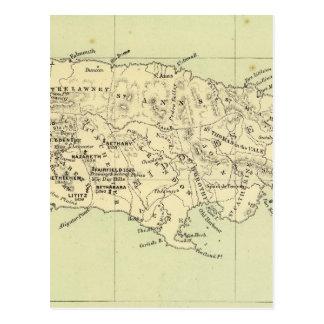 Jamaica Lithographed Map Postcard