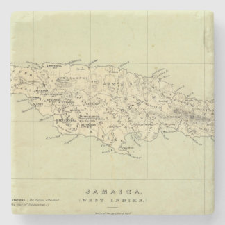 Jamaica Lithographed Map Stone Coaster