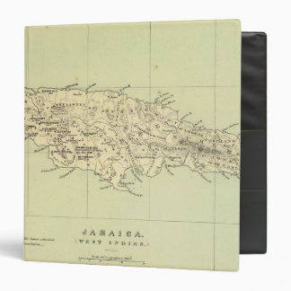 Jamaica Lithographed Map Vinyl Binders