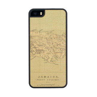 Jamaica Lithographed Map Carved® Maple iPhone 5 Case