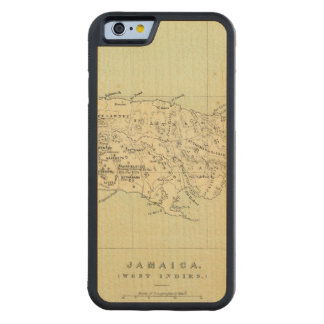 Jamaica Lithographed Map Carved® Maple iPhone 6 Bumper