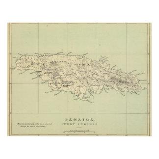 Jamaica litografió el mapa