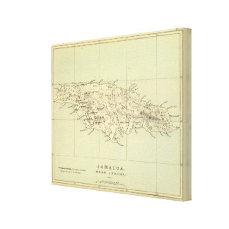 Jamaica litografió el mapa impresiones en lona