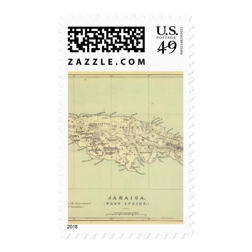 Jamaica litografió el mapa sellos