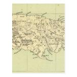 Jamaica litografió el mapa tarjeta postal