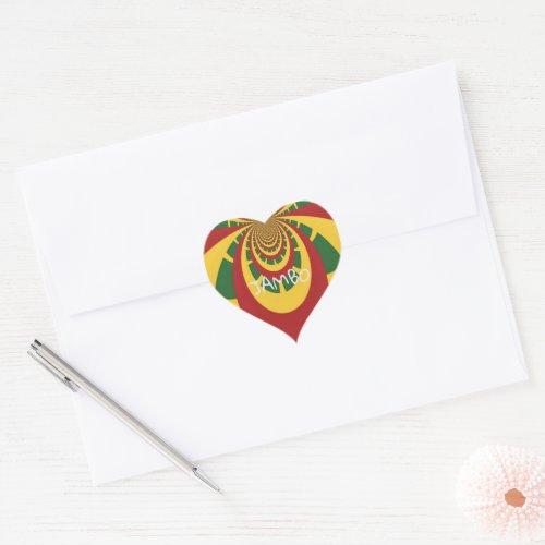 Jamaica Love Jambo Hakuna Matata Heart Sticker