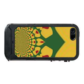Jamaica Lovely Hearts of Love Rasta Colors Waterproof Case For iPhone SE/5/5s