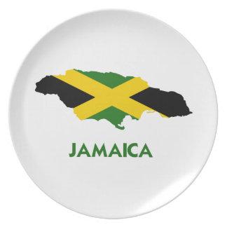 JAMAICA MAP DINNER PLATE