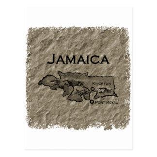 Jamaica Map (vintage) Postcard